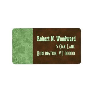 Wood Look Return Address Labels, Medium
