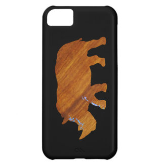 wood-look rhino animal iPhone 5C cases