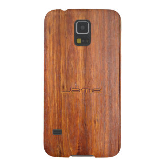 Wood look with custom engraved name galaxy s5 cover
