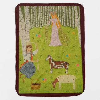Wood Maiden Baby Blanket