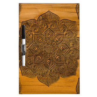 Wood mandala dry erase whiteboards