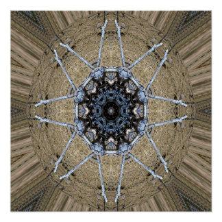 Wood Mandala... Poster