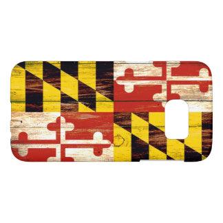 Wood Maryland flag Samsung Galaxy S7 phone case