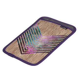 Wood nebula chevron iPad mini sleeve