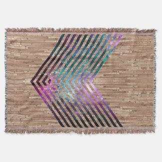 Wood nebula chevron throw blanket