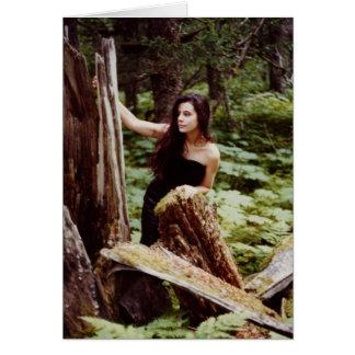Wood Nymph notecard