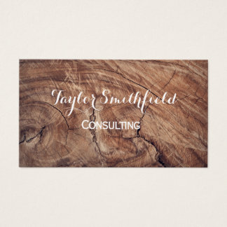 wood oak board tree nature rustic business card