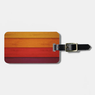 Wood of colors luggage tag