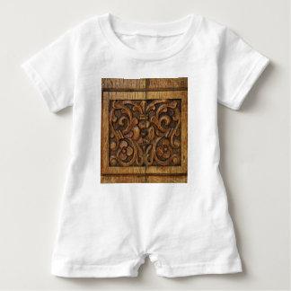 wood panel baby romper