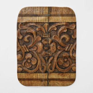 wood panel burp cloth