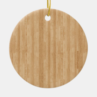 Wood Panel Ceramic Ornament