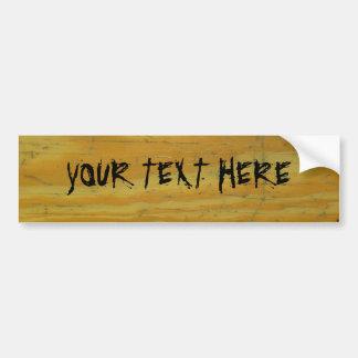 Wood panel custom bumper sticker