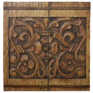 wood panel napkin