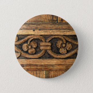 wood panel sculpture 2 inch round button