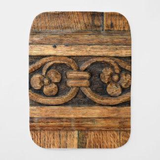 wood panel sculpture burp cloth