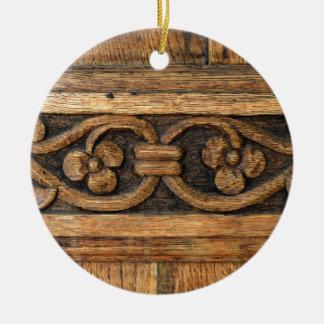wood panel sculpture ceramic ornament