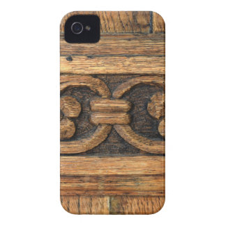 wood panel sculpture iPhone 4 cover