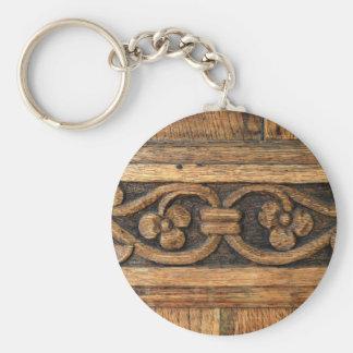 wood panel sculpture keychain