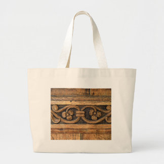 wood panel sculpture large tote bag