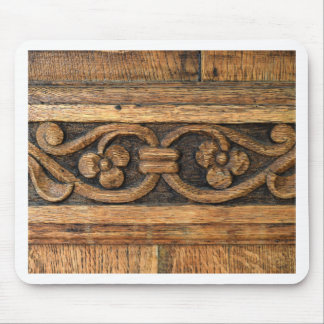 wood panel sculpture mouse pad