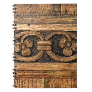 wood panel sculpture note book