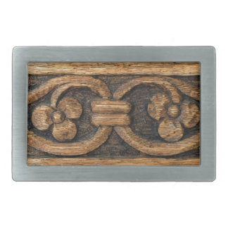 wood panel sculpture rectangular belt buckles