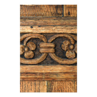 wood panel sculpture stationery