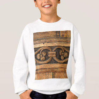 wood panel sculpture sweatshirt