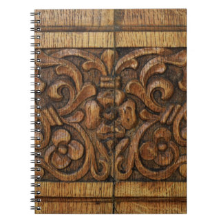 wood panel spiral note book