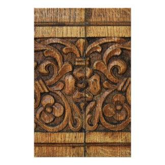 wood panel stationery