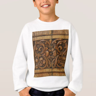 wood panel sweatshirt