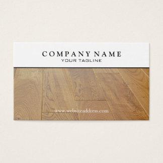 Wood Parquet Floor Business Card