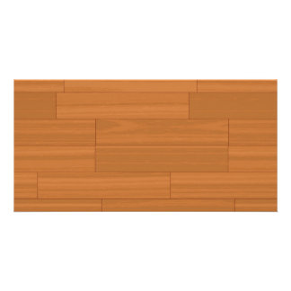 Wood Parquet Floor Pattern Photo Card