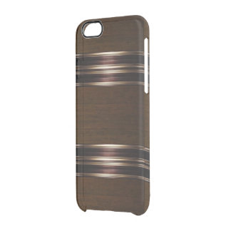 Wood Pattern Bronze/Gold IPhone 6 Case