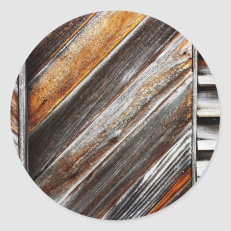 Wood Pattern Classic Round Sticker