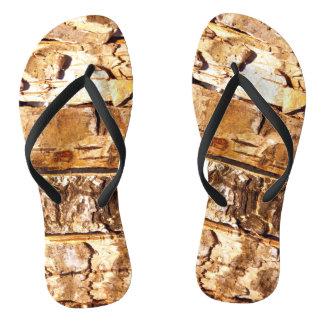 Wood Pattern Flip Flops
