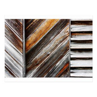 Wood Pattern Postcard
