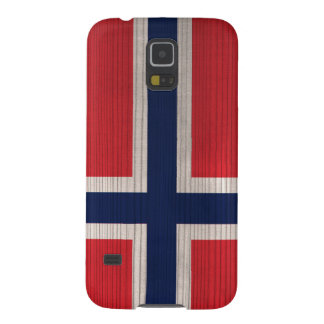 Wood Pattern with Engraved Norway Flag Galaxy S5 Covers