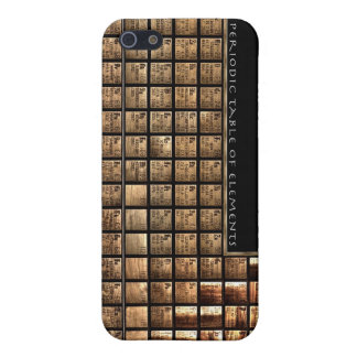 Wood periodic Table of Elements iPhone 5/5S Cover