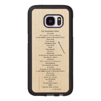 wood phone case for the Samsung Galaxy S7 edition