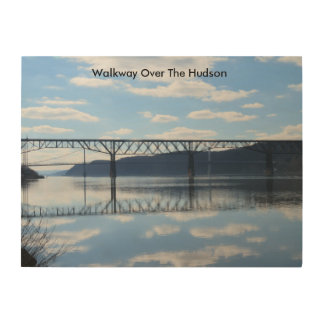 Wood Photo Print Of Walkway Over The Hudson River