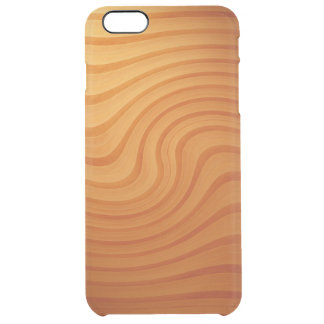 Wood Pine Swirl iPhone 6/6S Plus Clear Case