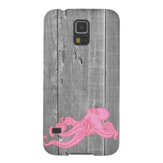 Wood pink octopus vintage nautical science kraken galaxy s5 covers