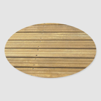 Wood plank brown texture background oval sticker