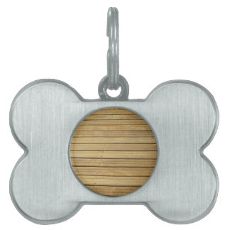Wood plank brown texture background pet name tags