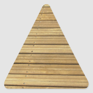 Wood plank brown texture background triangle sticker