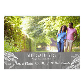 """Wood Plank Save the Date 5"""" X 7"""" Invitation Card"""