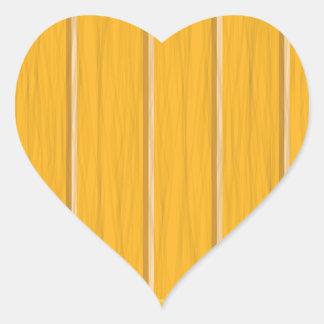 wood planks heart sticker