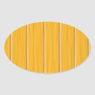 wood planks oval sticker