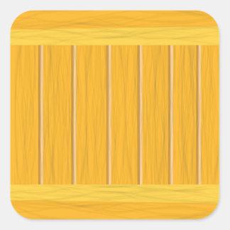 wood planks square sticker